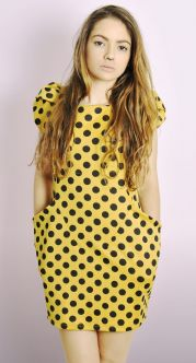 Polka Dot Structured Dress